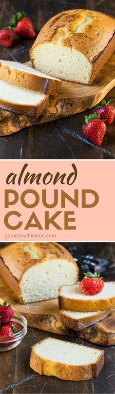 This Almond Pound Cake recipe is super versatile: eat it plain, toast it for breakfast or grill it for dessert and top it with fresh berries. Plus it freezes beautifully!