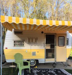 A customer shared a picture to https://www.facebook.com/vintagetrailerawnings Vintage Trailer Awnings by Kristi