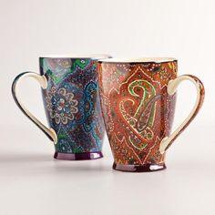 One of my favorite discoveries at WorldMarket.com: Rialto Mugs, Set of 2 by Eva