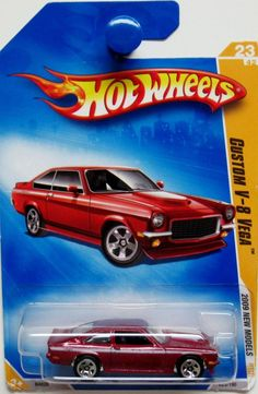 1971 Chevy VEGA V8 2009 Hot Wheels NEW MODELS #23/42 red #HotWheels #Chevrolet