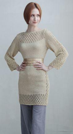 Ravelry: butterfly lace tunic dress pattern by Teva Durham