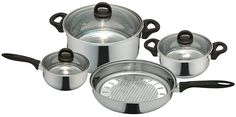 Priminute Bohemia Stainless Steel 7 pieces Cookware Set >>> You can get more details by clicking on the image.