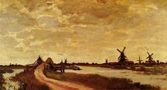4 Beautiful Windmill Paintings By Claude Monet | http://thebrushstroke.com/4-beautiful-windmill-paintings-by-claude-monet/