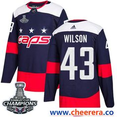 Adidas Washington Capitals  43 Tom Wilson Navy Authentic 2018 Stadium  Series Stanley Cup Final Champions Stitched NHL Jersey. Lola Zhang · Hockey  Jerseys bab01c2a6