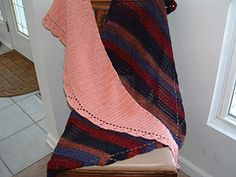 """Camille shawl/scarf ~ crocheted from end to end, similar to the knitted """"Saroyan"""", it can be a shawl or a scarf depending from size ~ free on Ravelry"""