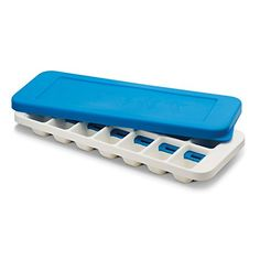 Joseph Quicksnap Plus Easy-Release Ice-Cube Tray with Stackable Lid, Blue