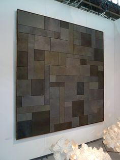 Leather Art at the Architectural Digest Home Design Show. Artist: Patrick Weder.