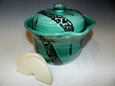 Sea foam green 2 QT fermenting crock Ready by MarkCampbellCeramics
