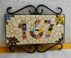 Gostinho Bom: Número de casa com Mosaico