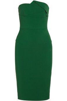 Roland Mouret Esther strapless stretch-crepe dress | NET-A-PORTER