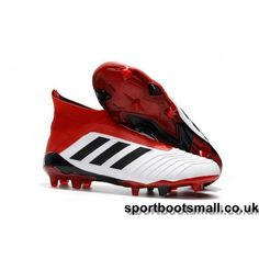 2ea255b0aba9 Clearance sale Adidas Predator FG Football Boots - White Solar Red Core  Black at less than cost
