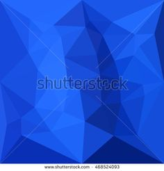Low polygon style illustration of a bright navy blue abstract geometric background. #abstractbackground #lowpolygon #illustration