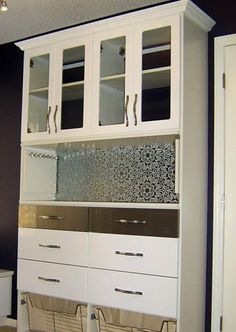 White Wardrobe Closet, Etched Glass, California Closets Twin Cities