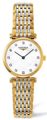 Longines Watch La Grande Classique de Longines Ladies #bezel-fixed #bracelet-strap-gold #brand-longines #buckle-type-deployment #case-depth-5mm #case-material-yellow-white-gold #case-width-24mm #delivery-timescale-1-2-weeks #dial-colour-white #gender-ladies #luxury #movement-quartz-battery #official-stockist-for-longines-watches #packaging-longines-watch-packaging #sku-lng-222 #subcat-la-grande-classique-de-longines #supplier-model-no-l4-209-2-87-7…