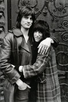 """Sam Shepard & Patti Smith, lovers & co-authors of """"Cowboy Mouth. Sam Shepard, Patti Smith, Just Kids, London Photos, Iconic Photos, Dalai Lama, Thing 1, Just Kidding, Famous Faces"""