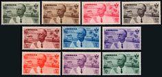 Former Italian colonies – Cyrenaica Airmail, 1934 – Flight Rome - Mogadishu – full set with 10 new values MNH - Catawiki