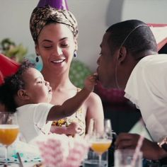Mr. & Mrs. Sean Carter and daughter Blue Ivy