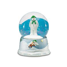 "Raymond Briggs' ""The Snowman"" snow globe. It plays ""Walking In the Air"". I want this more than anything."