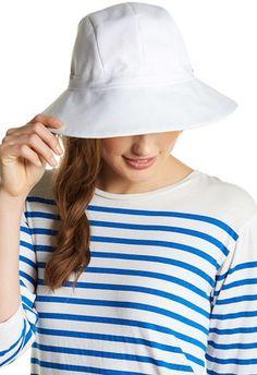 4357b7ef3 Helen Kaminski Newport Upturn Sun Hat, Natural/Blue   My Style ...