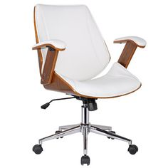 Noah Mid-Back Leather Desk Chair