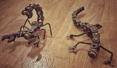 Scorpion and lizard chain