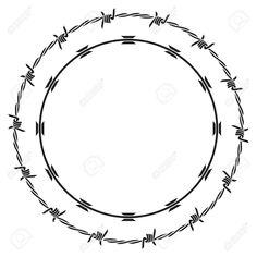 barbed wire Illustration , #SPONSORED, #barbed, #wire, #Illustration