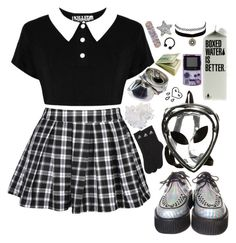 """""""Untitled #135"""" by avital-zaslavski ❤ liked on Polyvore featuring Killstar, O-Mighty, McCoy Design, Charlotte Russe and adidas"""