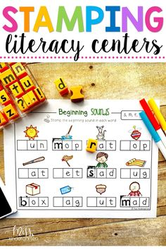 These hands on printables are fun learning activities for beginning sounds, sight words, letters and phonemic awareness. They can be used in literacy centers or work stations in kindergarten.