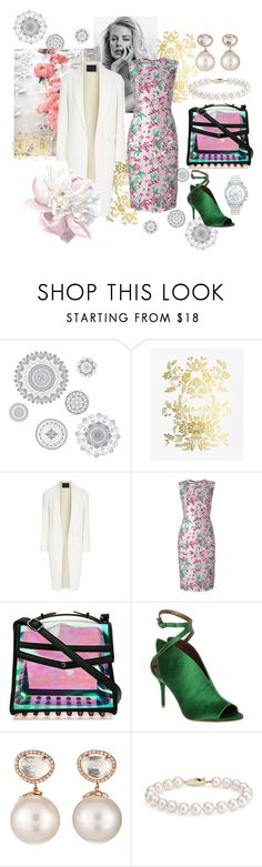 """""""Spring mood 🌸"""" by olga-highball ❤ liked on Polyvore featuring Wall Pops!, Rifle Paper Co, Alexander Wang, Jonathan Saunders, Nila Anthony, Max Studio, Samira 13, Blue Nile and Lane Bryant"""