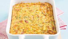 Απλά πανεύκολη, για αρχάριους και υπέροχη πίτα χωρίς φύλλο με κολοκυθάκια, ζαμπόν και τυρί. Μια γρήγορη συνταγή για να απολαύσετε μια υπέροχη πίτα, ζεστή ή σε θερμοκρασία δωματίου, για πρωινό, γεύμα, δείπνο ή σαν συνοδευτικό