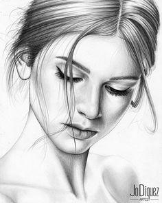 Pencil Drawing Images, Pencil Drawings Of Girls, Pencil Portrait Drawing, Girly Drawings, Portrait Sketches, Art Drawings Sketches Simple, Realistic Drawings, Portrait Art, Music Artwork