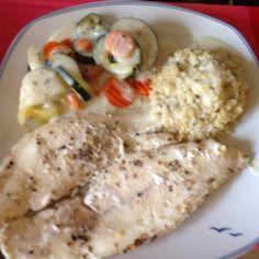 Rezept Steinbeißer mit Quinoa, Sommergemüse und Kräutersoße von Schlumpf112 - Rezept der Kategorie Hauptgerichte mit Fisch