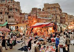 Inhabited for more than 2,500 years, Sana'a, Yemen. The Old City looks like its made out of gingerbread.