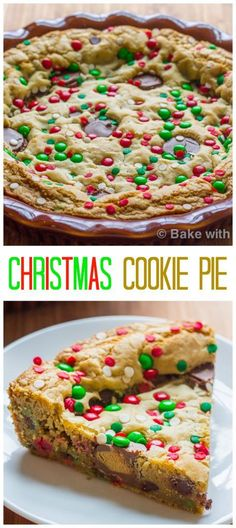 Merry Christmas everyone!! Celebrate with this delicious and gorgeous Christmas Cookie Pie! Well Merry Christmas everyone!! I hope everyone has a wonderful day