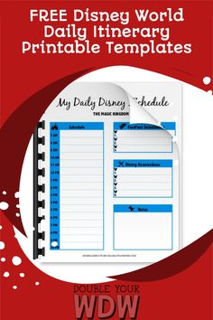 Plan your Disney World vacation with these FREE Disney World itinerary templates. Just print and add your rides, restaurants, and more to stay organized! Disney | Disney World | Disney planning | Disney vacation | vacation planning | Free Disney World planning | Free printables | Walt Disney World | Disney tips and tricks | Disney parks Disney World Parks, Disney World Planning, Disney World Vacation, Disney World Resorts, Disney Vacations, Disney World Tips And Tricks, Disney Tips, Disney Disney, Day Schedule