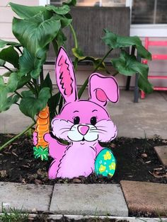 Easter Yard Yard Art Easter Easter Decoration Outdoor Bunny Outdoor Vacation Home Decor Handmade Easter Decor Easter Bunny Cutout Easter Garden Bunny Crafts, Easter Crafts, Wood Yard Art, Wood Art, Diy Osterschmuck, Easter Table Decorations, Holiday Decorations, Easter Projects, Easter Ideas