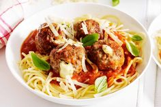 Stuff your meatballs with bocconcini for an extra cheesy surprise!
