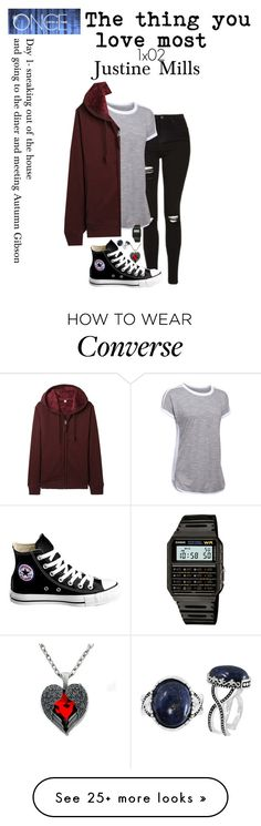 """""""1x02 """"the thing you love most"""" Day 1- Justine Mills *Once Upon A Time*"""" by j-j-fandoms on Polyvore featuring Under Armour, Converse, Uniqlo, Casio and BillyTheTree"""