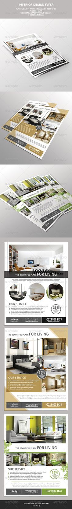 Interior Design Flyer — Photoshop PSD #interior poster #modern • Available here → https://graphicriver.net/item/interior-design-flyer/7520574?ref=pxcr