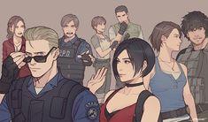 Resident Evil Collection, Albert Wesker, Gamer Meme, Leon S Kennedy, Fictional Heroes, Resident Evil Game, Evil Art, Evil World, Jill Valentine