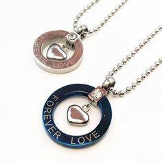 Titanium Stainless Steel Charm Heart Pendants. Valentine Day  LoveValentinesCouple JewelryCouple NecklacesLove ... cdb16c297e55