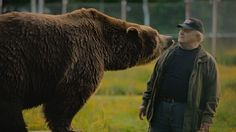 Sulo The Bearman Karjalainen is at home amongst bears and other predators, having nursed them since they were babies.