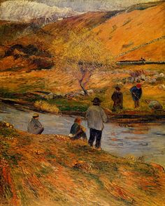 Breton Fisherman by Paul Gauguin in oil on canvas, done in Now in a private collection. Find a fine art print of this Paul Gauguin painting. Paul Gauguin, Henri Matisse, Pablo Picasso, Gravure Photo, Impressionist Artists, Pics Art, Pierre Bonnard, Vincent Van Gogh, Tahiti