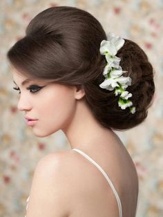 Pictures : Wedding Hairstyles for Long Hair - Oversized Bridal Updo With Side Bangs