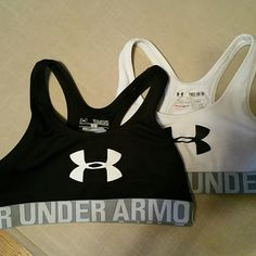 Youth under armour sports bras One black and one white UA youth medium sports bras. Used, but lots of life left. Under Armour Intimates & Sleepwear Bras