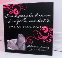 Memorial Bereavement Canvas or Gift - A custom designed and personalized gift. $90.00, via Etsy.