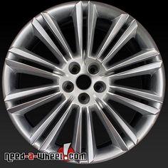 """2010-2015 Jaguar wheels for sale. 20"""" Rear Hypersilver stock rims 59864 http://www.need-a-wheel.com/rim-shop/20-jaguar-wheels-oem-hypersilver-59864/, #jaguar, #jaguarwheels, #jaguarxk, #jaguarxj, #oemwheels, #factorywheels"""