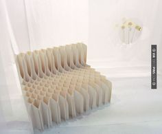 New origami design furniture cardboard chair ideas Design Furniture, Chair Design, Cool Furniture, Origami Furniture, Cardboard Furniture, Origami Chair, Cardboard Chair, Cardboard Crafts, Cardboard Design
