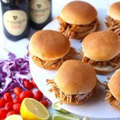My goodness, my #guinness...#pulledpork sliders! Get the recipe here: