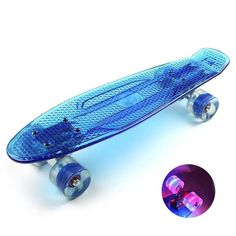Eprocool Plastic  Flashing Wheels Skateboard Transparent Blue Board Cruiser Flying Fish  What does include #goodbuy:  Enjoyable shopping at cheapest prices Best quality goods 24/7 support & easy communication 1 day products dispatch from warehouse Fast & reliable shipment (7-25...